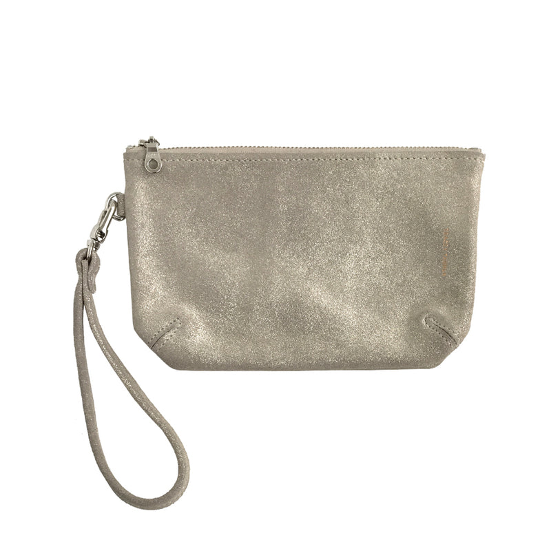 WHITE WASH WRISTLET POUCH LARGE