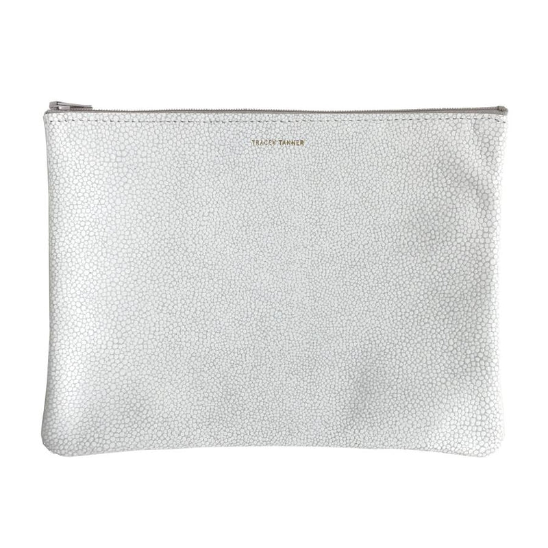 FAUX STINGRAY WHITE WRISTLET LARGE SALE
