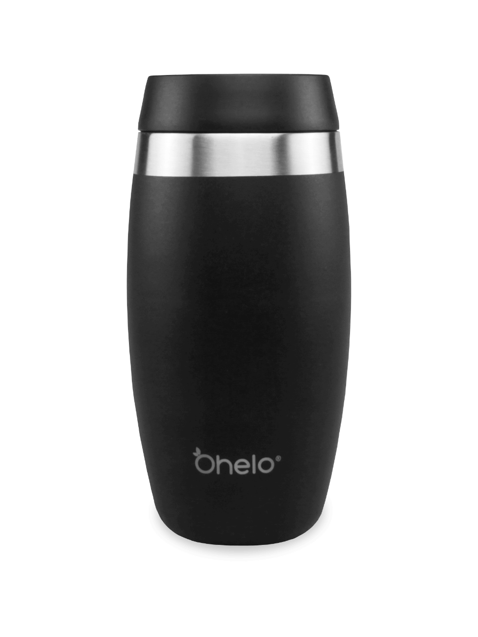 Ohelo stainless steel reusable tumbler black