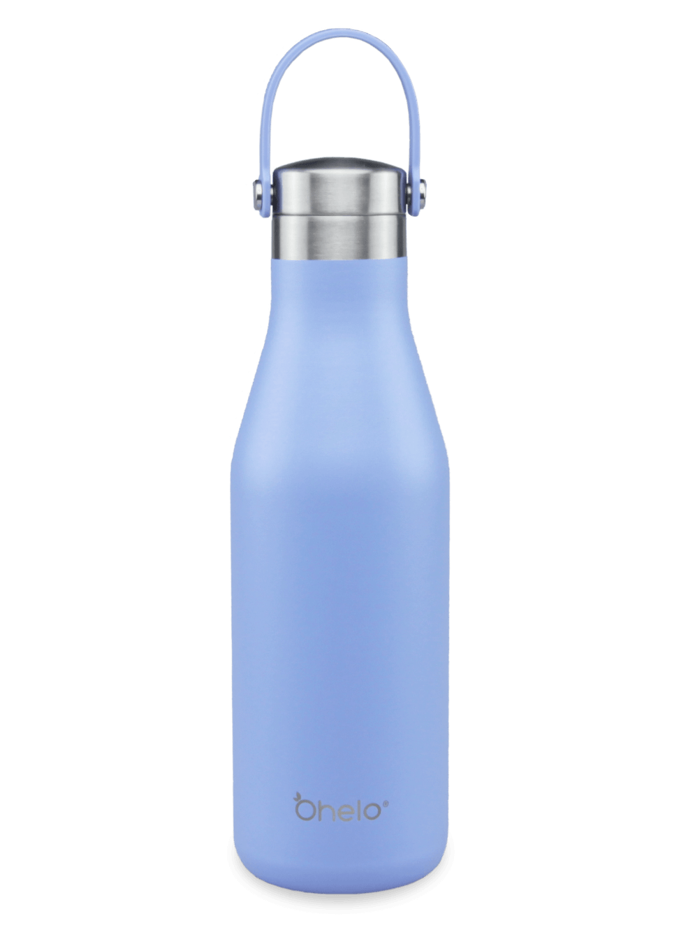Ohelo blue reusable insulated stainless steel bottle