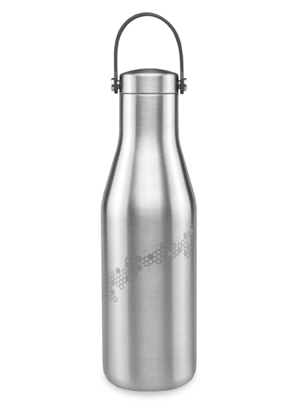 bpa free 500ml water bottle stainless steel with laser etched honeycomb and bee