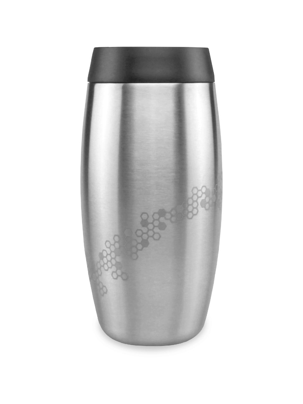 thermos steel coffee cup with laser etched bee and honeycomb