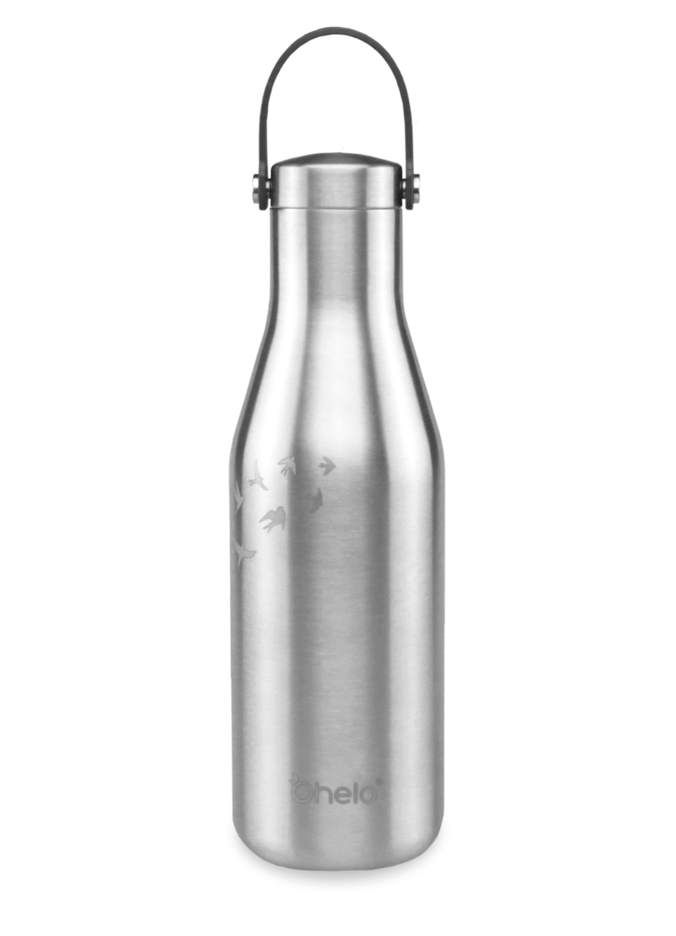500ml reusable water bottle steel with laser etched swallows