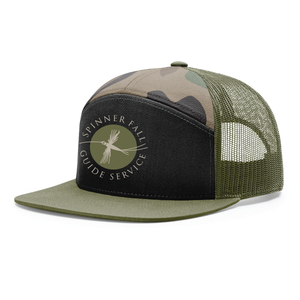 Spinner Fall Hat - Camo / Black  w/ Green Logo