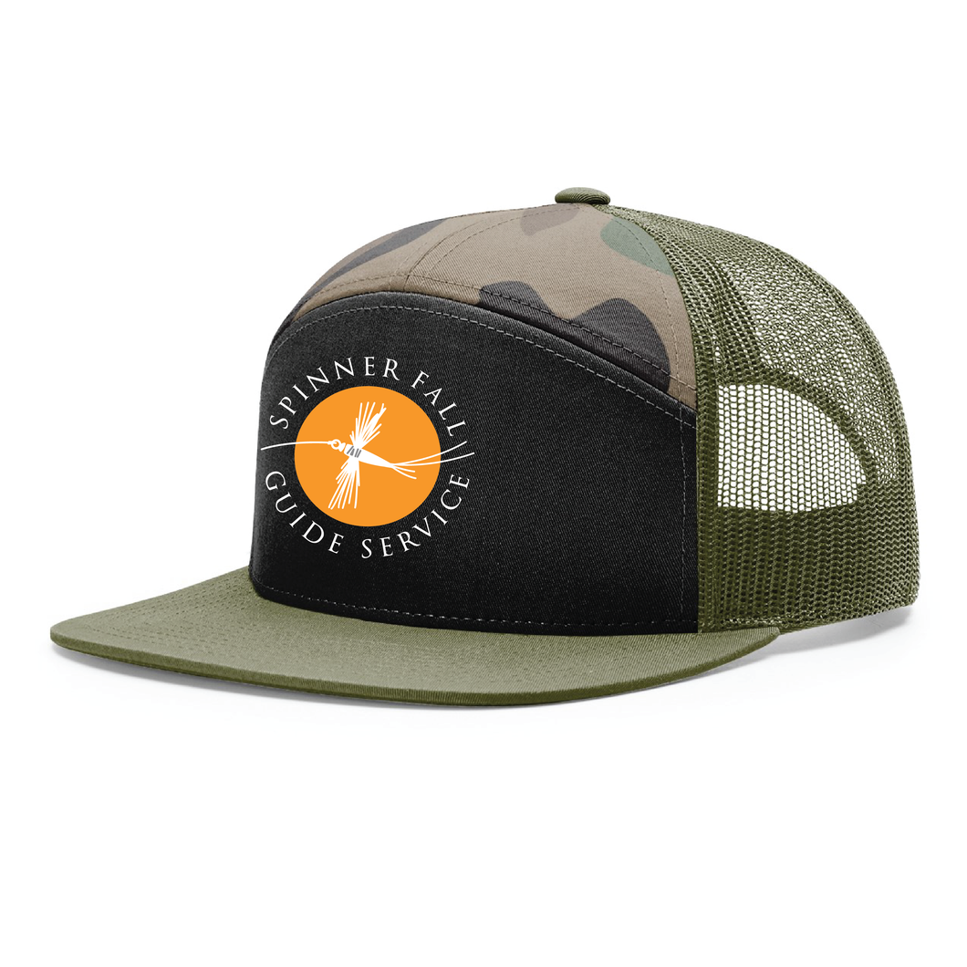 Spinner Fall Hat - Camo / Black / Orange
