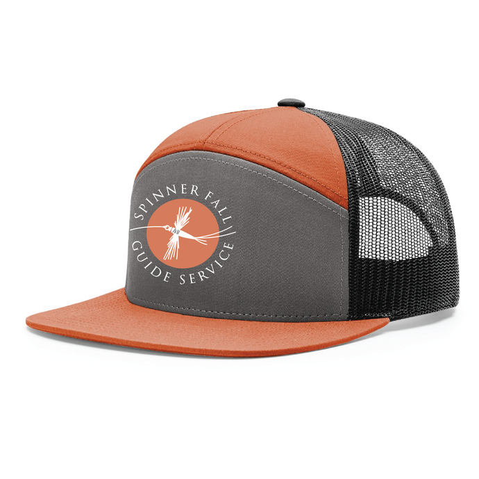 Spinner Fall Hat - Orange / Grey  w/ Orange Logo