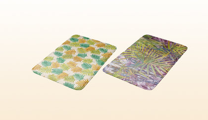 Tropical Palm Tree Leaves Bath Mats