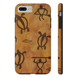 Hawaiian Petroglyph Paddler n Honu Case Mate Tough Phone Cases - Pono Artworks