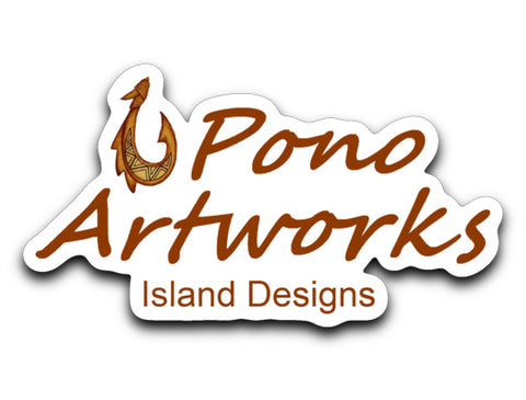 Pono Artwork Logo Brand Decal - Pono Artworks