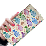 Colorful Tropical Pineapples RFID-blocking Women's Wallet - Pono Artworks