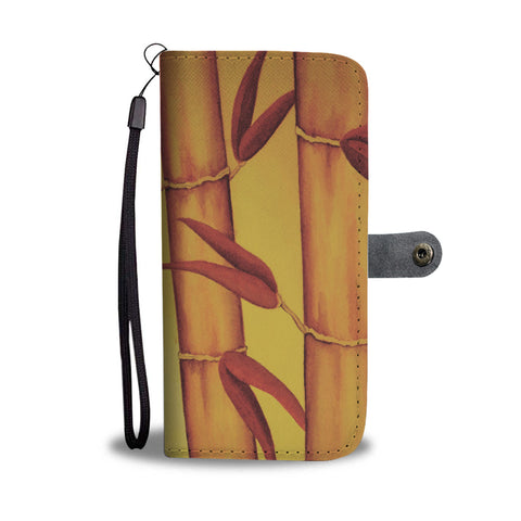Golden Bamboo Tropical RFID-blocking Phone Wallet - Pono Artworks