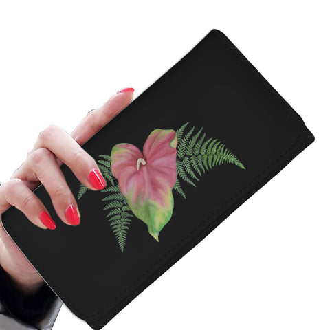 Tropical Anthurium n Ferns RFID-blocking Women's Wallet - Pono Artworks