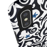 Black and White Tribal Vines Case Mate Tough Phone Cases - Pono Artworks