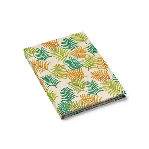 Colorful Tropical Palm Leaves Hardcover Journal/sketch book - Pono Artworks