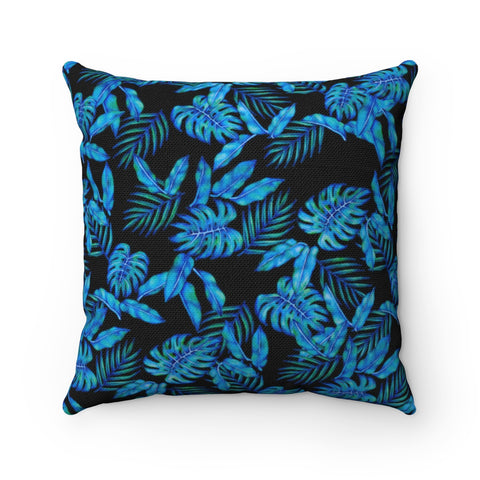 Tropical Blue Leaves Pillow Case Only - Pono Artworks
