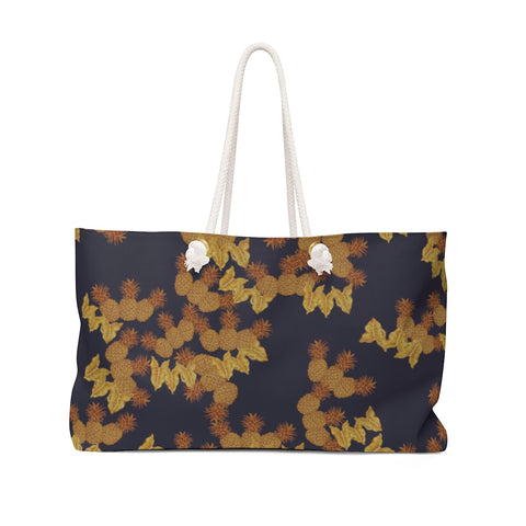 Golden Tropical Pineapples Weekender Bag