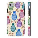 Colorful Tropical Pineapples Case Mate Tough Phone Cases - Pono Artworks