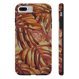 Red Tropical Monstera Leaves Case Mate Tough Phone Cases - Pono Artworks