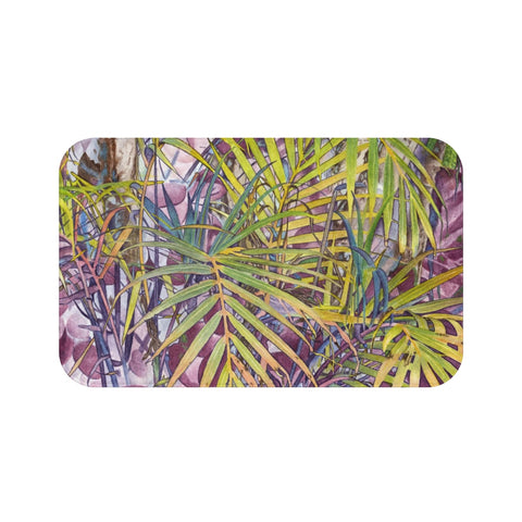 Tropical Palm Grove Bath Mat