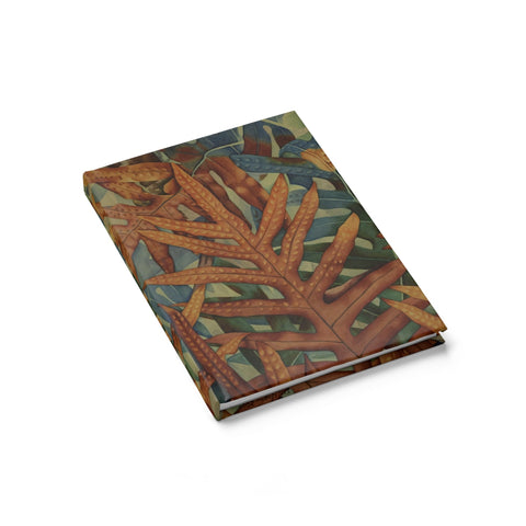 Colorful Tropical Ferns Hardcover Journal - Ruled Line - Pono Artworks