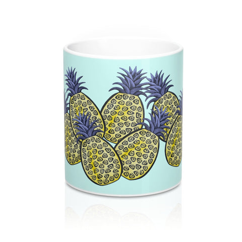 Bunch of Tropical Pineapples Coffee Mug