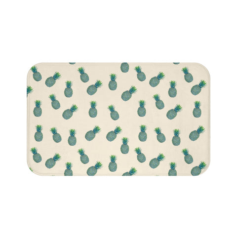 Blue Tropical Pineapples Bath Mat