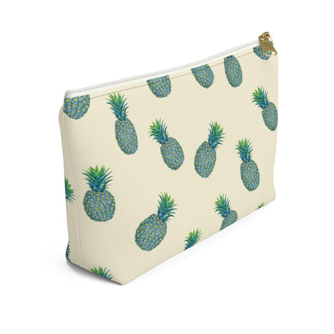 Tropical Blue Pineapples Accessory Pouch w T-bottom