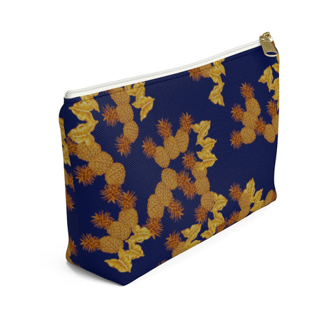 Tropical Golden Pineapples Accessory Pouch w T-bottom