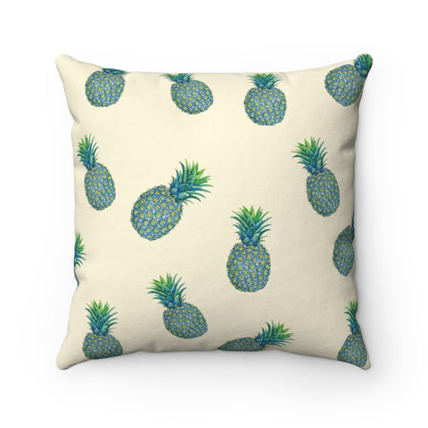 Blue Tropical Pineapples Pillow Case Only
