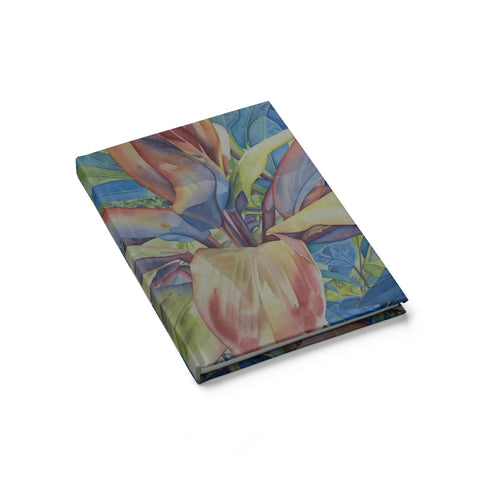 Colorful Tropical Ti Leaf Plant Hardcover Journal/sketch book