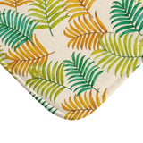 Colorful Tropical Palm Leaves Bath Mat