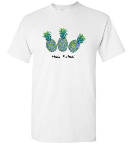 Tropical Blue Pineapples T-shirt (5 colors) - Pono Artworks