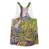 Tropical Palm Grove Women's Racerback Tank - Pono Artworks