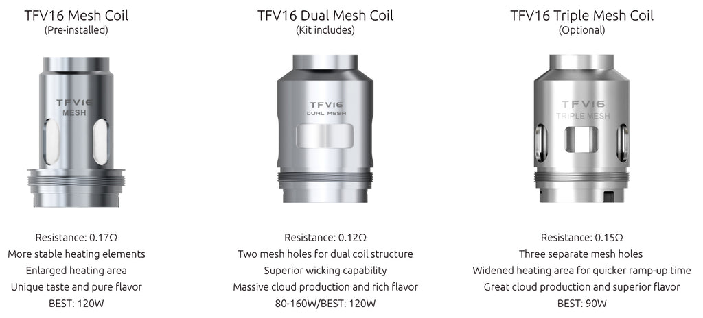 SMOK TFV16 Tank Replacement Mesh Coils