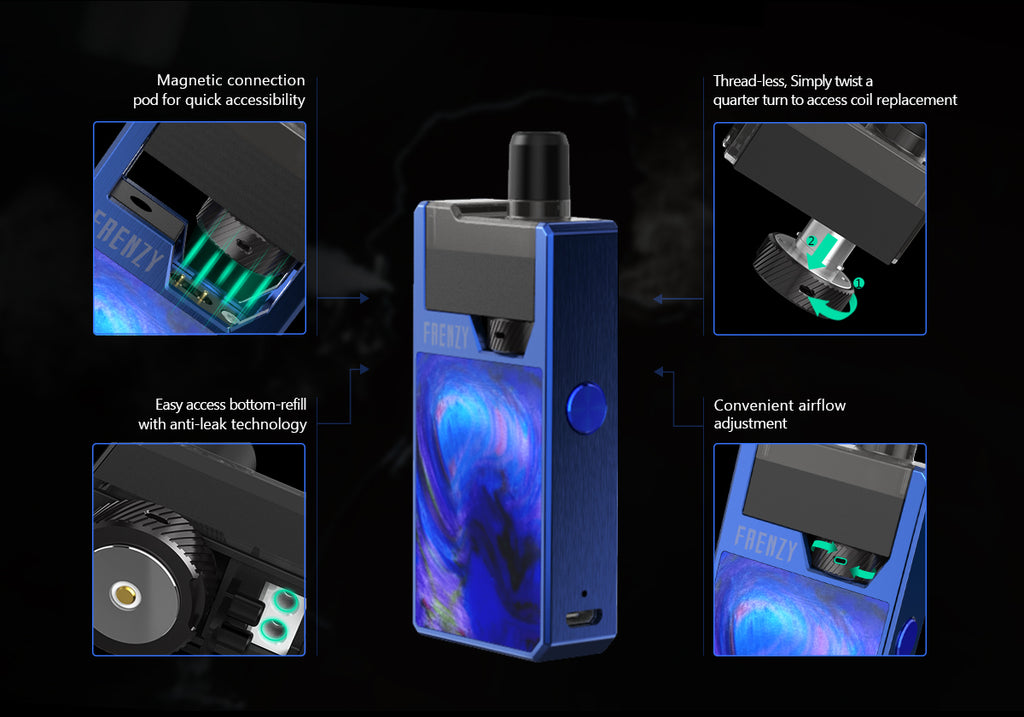 GeekVape Frenzy 950mAh Pod System Starter Kit With 2ML Refillable Pod