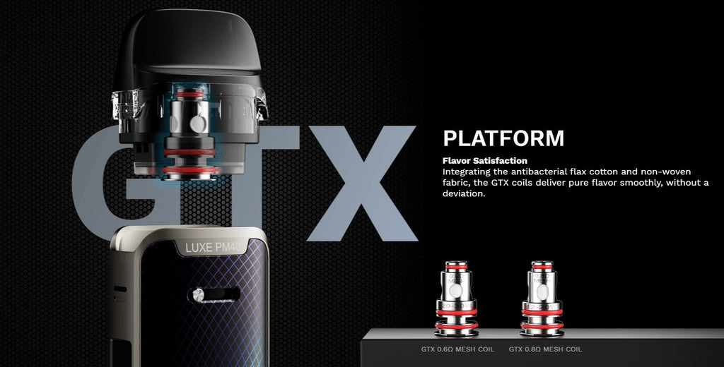 Vaporesso LUXE PM40 1800mAh Pod System Starter Kit With 2 x 4ML Refillable Cartridge Pod