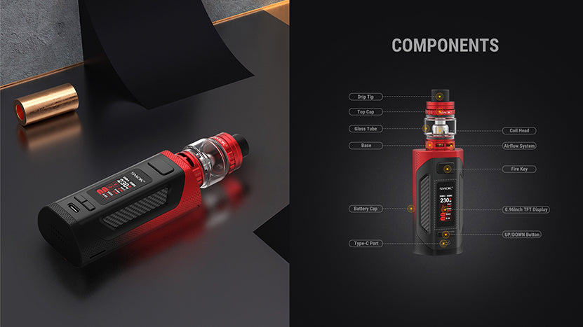 SMOK-Rigel-230W-18650-Starter-Kit-With-6.5ML-Refillable-TFV9-Tank