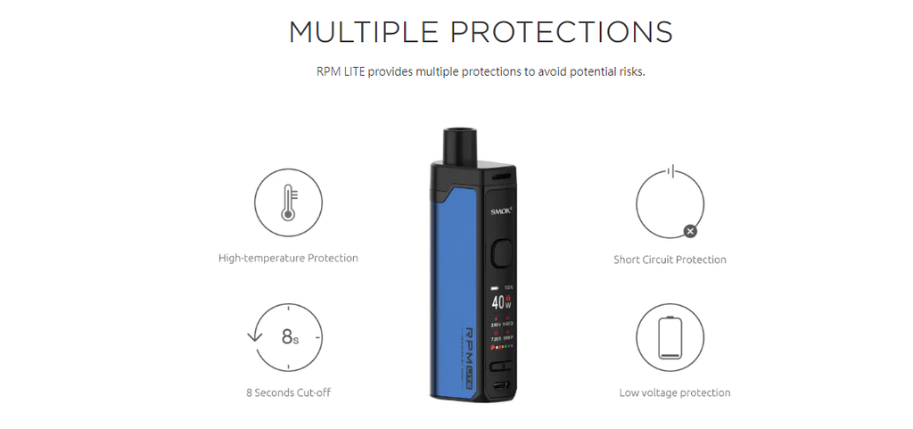 SMOK RPM Lite 1250mAh Pod System Starter Kit With 3.2ML Refillable RPM Pod