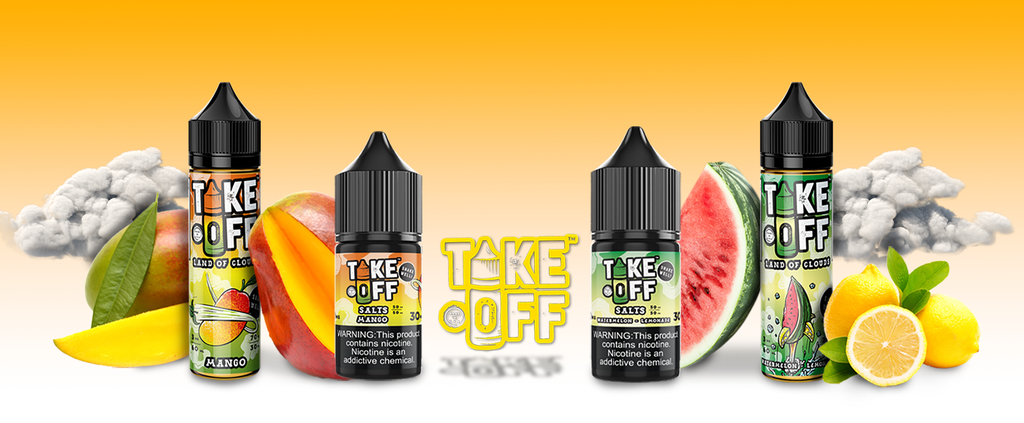 Take-Off E-Liquid.  Vape Juice and Salt Nic