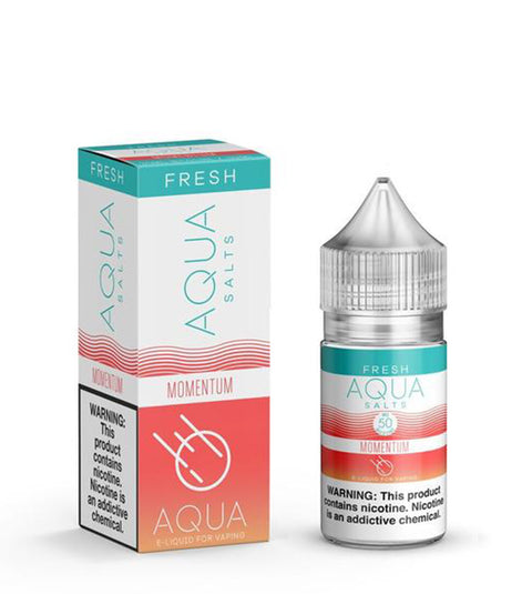 Momentum Aqua Salts Nicotine Salt E Liquid 30ml - All Puffs
