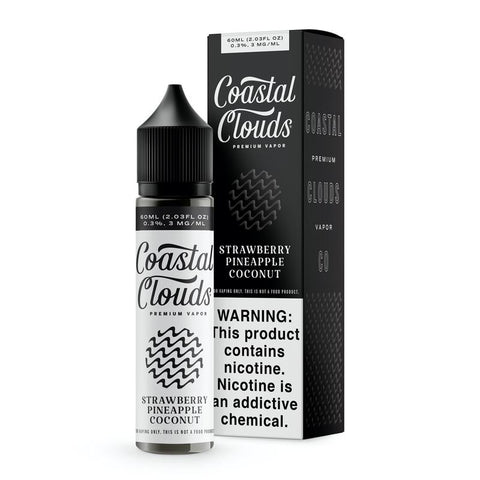 Strawberry Pineapple Coconut - Coastal Clouds Premium E-Liquid 60ML - All Puffs