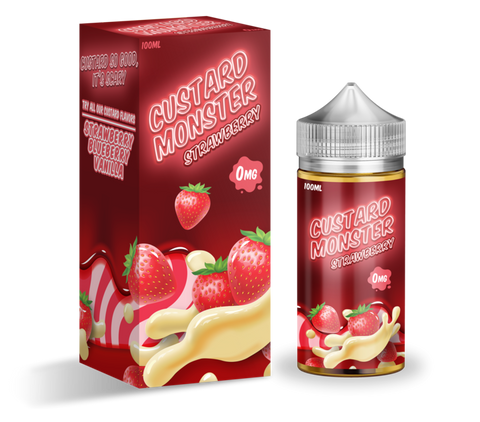 Strawberry Custard - Custard Monster E-Liquid 100ML - All Puffs