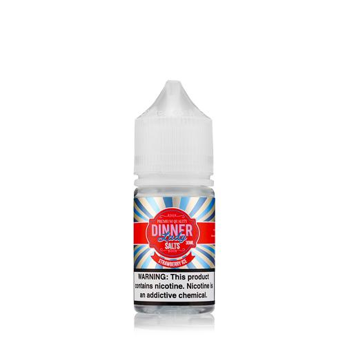 Dinner Lady Strawberry Ice Premium Salt Nicotine - All Puffs