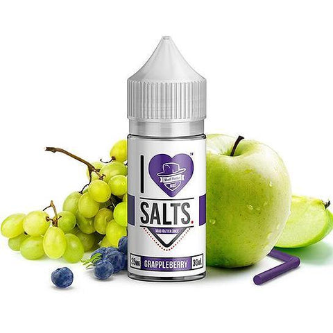 Grappleberry I Love Salts Nicotine Salt E Liquid By Mad Hatter 30ml - All Puffs