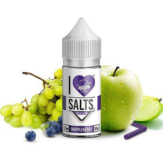 Grappleberry I Love Salts Nicotine Salt E Liquid By Mad Hatter 30ml