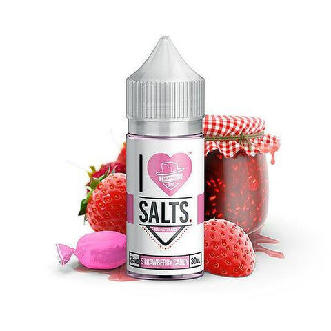 Sweet Strawberry - Strawberry Candy I Love Salts Nicotine Salt E Liquid By Mad Hatter 30ml - All Puffs
