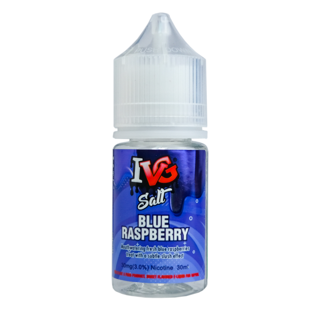 IVG Blue Raspberry Salt Nicotine - All Puffs