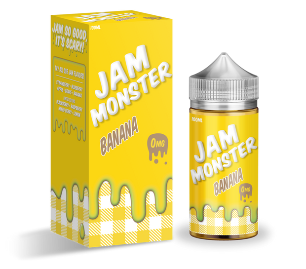 Banana - Jam Monster E-Liquid 100ML - All Puffs