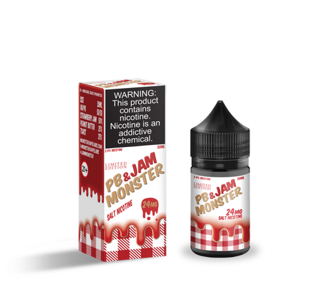PB & Jam Monster Strawberry - Jam Monster Nic Salt 30ml - All Puffs