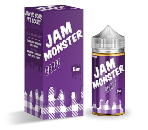 Grape - Jam Monster E-Liquid 100ML - All Puffs